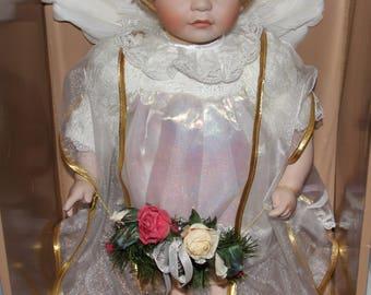 Porcelain Christmas Angel - Grandeur Noel - In Original Box