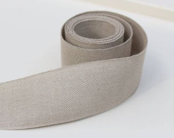 Sample - Linen Tape Flat band