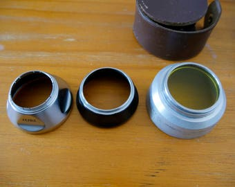 Voigtlander Lens Hoods and Heliopany Filter with case