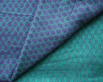 Two tone Handloom Woven Cotton Jacquard Semi Sheer Fabric  by Yard