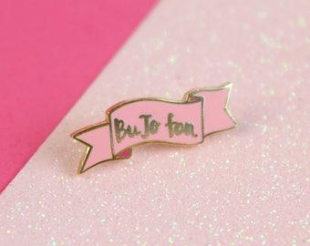 BuJo Fan Enamel Pin, BuJo Planner lapel pin, Bullet Journalling Pin, Bullet Journal Banner Pin | Claireabellemakes