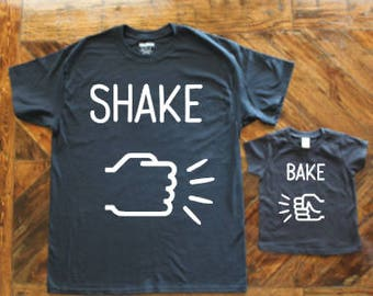 Shake & Bake! / Children's Shirt / Best Friend Duo Shirt / Sibling Duo Shirt / Children's Onesie / Fist Bump / Funny Children's Shirt
