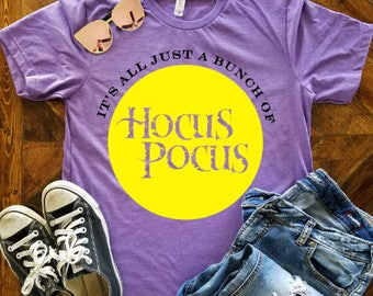 It's all just a bunch of Hocus Pocus YOUTH Shirt / Hocus Pocus Shirt / Halloween Shirt / Sanderson Sisters Shirt / Disney Halloween Shirt
