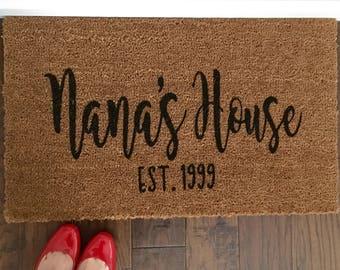 Grandparent Custom Doormat, Customized Coir Doormat,  Handpainted Doormat, Doormat, Custom Doormat, custom Mat, Custom Rug