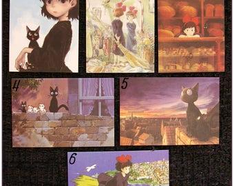 "Mini Card ghibli totoro spirited away, ponyo mononoke arrietty kiki Asian ""model 3"" x 1"