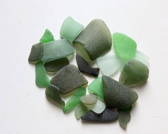 Green genuine seaglass lot australian beach finds