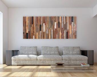 Wood wall art made of old reclaimed barnwood, Large wall art, Large art, wood wall sculpture
