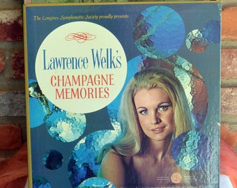 Lawrence Welk Champagne Memories- Set of 5 Records, Longines Symphonette - Vintage - Rare, Fabulous!