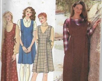 Simplicity 9804 Size L-XL Bust 40-42-44-46 Misses'/Miss Petite Jumper Sewing Pattern 1995 Uncut