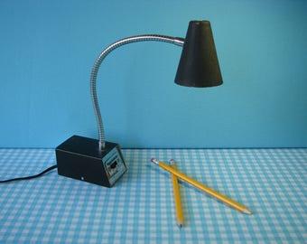 Tensor Gooseneck Desk Lamp - Adjustable - Black Base - Model G-5863 - Mid Century - Vintage 1960's