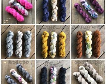 Daylight Fading Shawl Kit - Preorder - Shawl Kit - Hand-Dyed Yarn and Pattern Kit - Shawl Pattern - Indie Dyed Yarn - Nine Kit Choices
