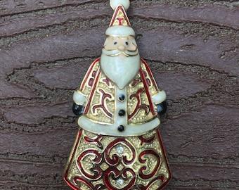Vintage Christmas Santa Pin Brooch
