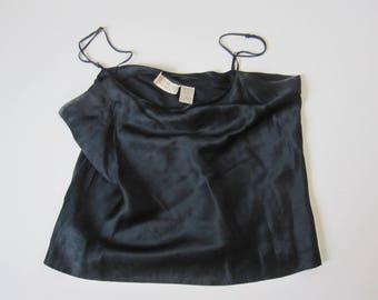 Vintage Victoria Secret Silk Cami Top Size Small 100% Silk lingerie black silk