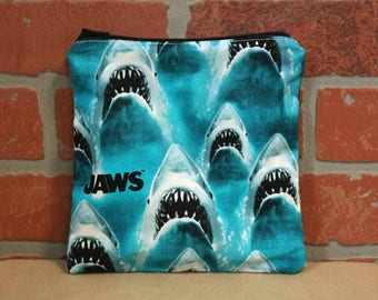 One Sandwich Bag, Reusable Lunch Bags, Waste-Free Lunch, Machine Washable, Jaws, Great White Shark, Sandwich Sacks, item #SS89