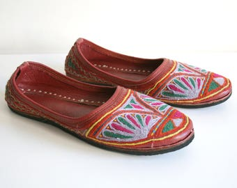 Suzani Embroidered Leather Shoes
