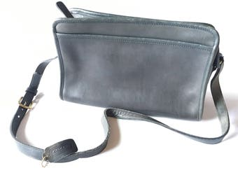 Vintage Coach Bag Vintage Coach Shoulder Bag Grey Leather Coach Purse 013-3829 Made in NYC Cowhide Vintage 1960s 1970s Coach Purse