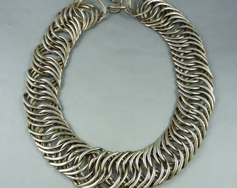Old silver Indian chain necklace, indian jewelry, necklace from India, jewellery from Rajasthan, ethnic jewellery, Rajasthan silver