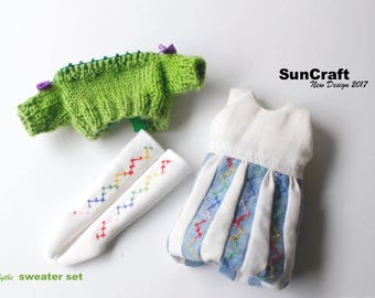 HandMade Neo Blythe or 1/6 doll  sweater dress set(Green) by SunCrafte 2017 May