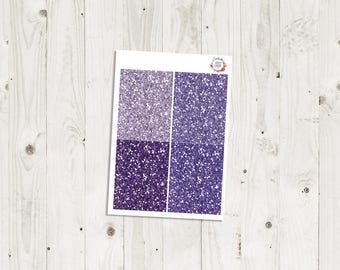 Purple Glitter Headers - ECLP Stickers