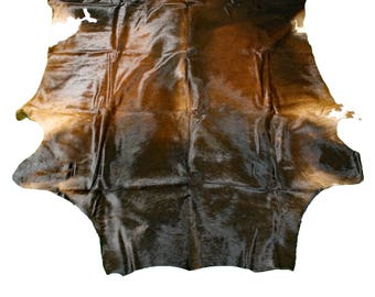 Glacier Wear Cow Hide Leather Hair-On Rug #020