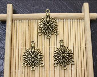 20 charm pendant connector chandelier antique bronze
