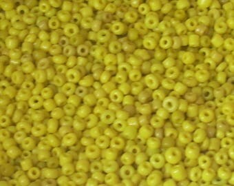 20 g 2mm opaque yellow seed beads