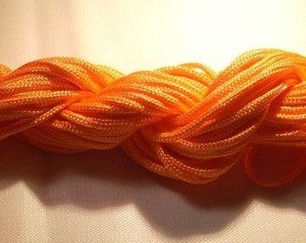 Nylon thread skein orange 2mm for braiding costume jewelery