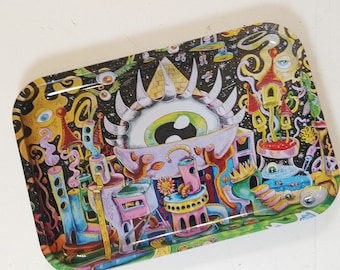 """13"""" x 9"""" All Eyes on Me Rolling Tray"""