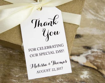 Thank You for celebrating our special day - Thank You Tags - Wedding Favor Tags - Wedding Favor Tag - LARGE Size - 3.5 x 2 inch