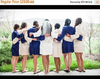 ON SALE Embroidered Robes & Bride Robes, Mother of the Bride and Maid of Honor Robes - Custom Embroidered Getting Ready Robes.