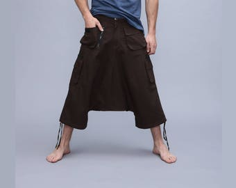 mens harem pants with pockets - Afghani Alibaba Pants -short afghani pants
