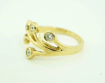 """14k Golden Diamond Ring """"Tree of Life"""", Solid gold ring, Family Ring, Costum Birthstone Ring, Gift for Mom, Family Tree Ring, Mothers Ring"""
