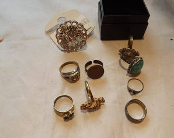 Lot of Nine Vintage Rings
