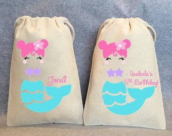 "8- Mermaid Party, Mermaid Party Favor, Mermaid Birthday, Mermaid birthday supplies, Mermaid party favor bags- 4""x6"""