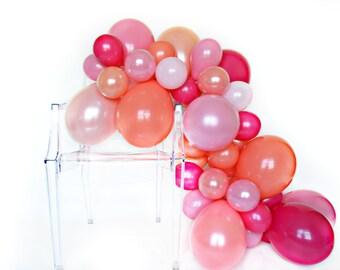 Balloon Garland Kit - Coral Crush - Coral, Pink, Hot Pink Party - Moana Party Decorations - Coral Party Balloons