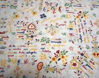 Half METER  - Love Valentines fabric portuguese fabric