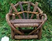 Garden Bench - Fairy Garden - Rustic Fairy Furniture - Woodland - Nature - Miniature Gardening