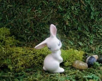 Mama Bunny - Fairy Garden - Terrarium - Bonsai - Succulent - Woodland - Miniature Gardening - Fine Porcelain Figurine