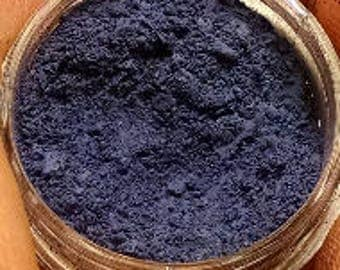 Eva Destruction - matte dark slate blue vegan eyeshadow
