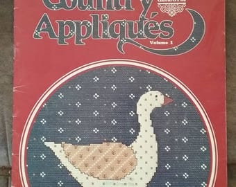 Country Appliques Cross Stitch Book