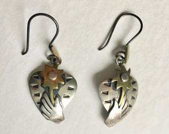 vintage Far Fetched heart earrings