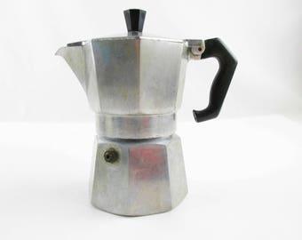Retro 1940s Stovetop Espresso Maker - 'Zanzibar' Espresso Coffeemaker - Made in Italy - Zanibar Espresso - Stovetop Espresso -