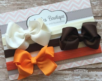 Fall Bow Headbands..Newborn Headband..Baby Girl Headband.Bow Headband..Baby Headband..Toddler Headband..Infant Headband