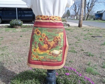Rooster & Hen Apron