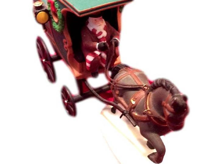 Heritage Village Collection Department 56 Fezziwig Delivery Wagon Handpainted Porcelain Accessory Figurine Christmas Decor Dept 56