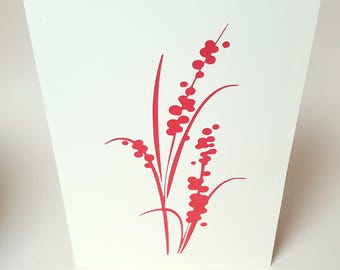 "Card ""Flower bouquet"" red envelope"