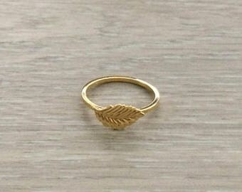 Gold Arrow Ring, Gold Ring, Stack Ring, Arrow Ring, Thin Ring, Knuckle Ring