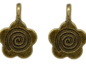 Set of 20 bails to stick to pendant, brass, 15 * 11mm