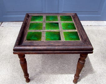 Vintage Tile Top Table Occasional Table Side Table 1960s Retro Tiles Old  Craft Project Mid