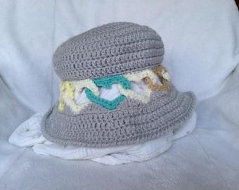Crochet Sweet Heart Hat (adult)